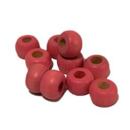 Cuenta DQ 10mm Holzperle Perle rosa Haaren