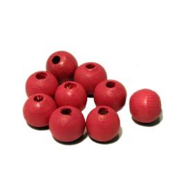 Cuenta DQ 8mm pink round wooden bead