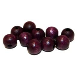 Cuenta DQ 8mm round wooden bead purple