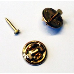 Button plug cap 12mm pin plate 2mm gold color