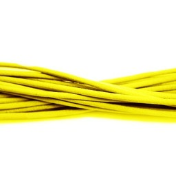 Cuenta DQ Leather Lace 2mm round yellow one meter
