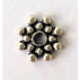 jolie 3D spacer double row of beads 8mm silver apiece