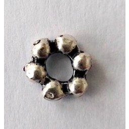 jolie 3D spacer double row of small beads 6mm silver apiece