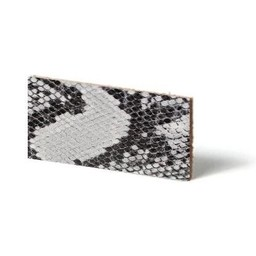 Cuenta DQ leather wristband strip Grey reptiel-snake 13mmx85cm