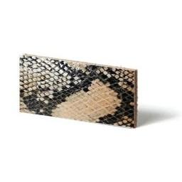 Cuenta DQ leather wristband strip Beige reptiel-snake 13mmx85cm