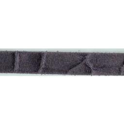 Cuenta DQ Lederarmband Streifen 13mm Kroko-Print Lila 13mmx85cm