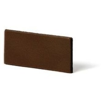 Cuenta DQ Flat leather 25mm middle brown 25mmx85cm