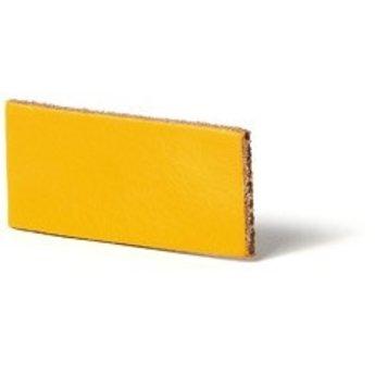 Cuenta DQ flach lederband DIY Riemen 30mm Gelb 30mmx85cm
