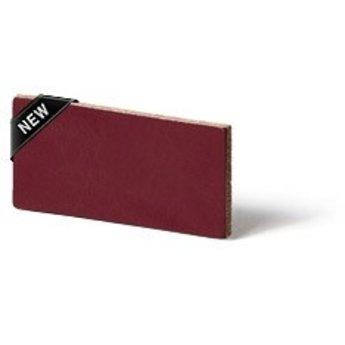 Cuenta DQ flach lederband DIY Riemen 35mm Ruby rood 35mmx85cm