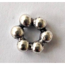 jolie 3D spacer beads 10mm small silver apiece