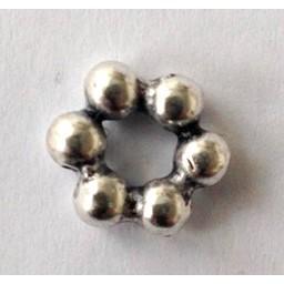 jolie 3D Spacer bolletjes klein 10mm zilverkleur per stuk