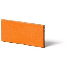 Cuenta DQ flach lederband DIY Riemen 6mm orange 6mmx85cm
