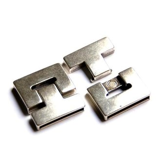 Cuenta DQ Clasp magnet 20x3mm silver