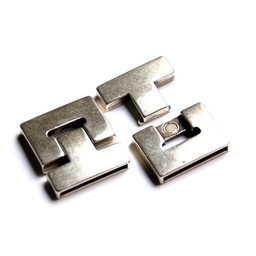 Cuenta DQ Clasp magnet 25x3mm silver