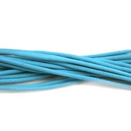Cuenta DQ lederband  2mm turquoose 1 meter .