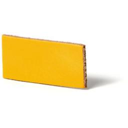 Cuenta DQ flach lederband DIY Riemen 10mm Gelb 10mmx85cm