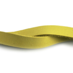 Cuenta DQ Choker / Lederumh?llung 13mmx40cm gelb glatt