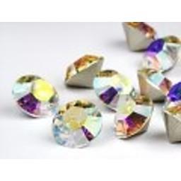 Swarovski elements Puntsteen ss45 crystal  AB 10mm