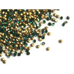 Preciosa crystals spitzer Stein pp8 emerald 1.4mm