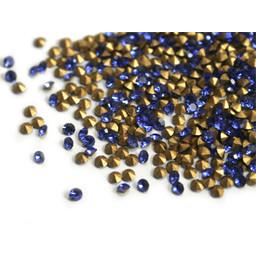 Preciosa crystals puntsteentje pp8 blauw 1.4mm p. 36 stuks