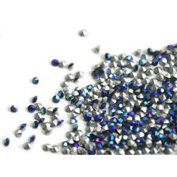 Preciosa crystals spitze Steine pp8 Jet AB 1.4mm