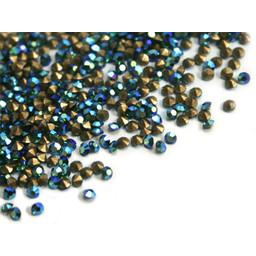 Preciosa crystals pointed stone pp6 emerald AB 1.3mm