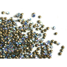 Preciosa crystals puntsteentje pp6 sapphire AB 1.3mm