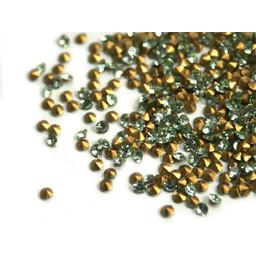 Preciosa crystals pointed stone pp6 peridot green 1.3mm