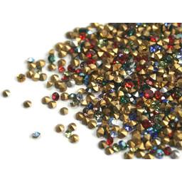 Preciosa crystals puntsteentje pp6 en pp8 assorti kleuren per 36 stuks