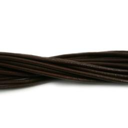 Cuenta DQ leather cord 2mm dark brown 2 meter