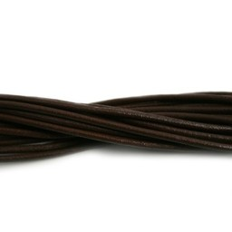 Cuenta DQ lederband  2mm dark brown 2 meter
