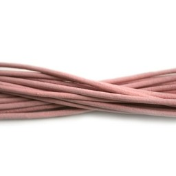 Cuenta DQ leather cord 2mm light pink 1 meter