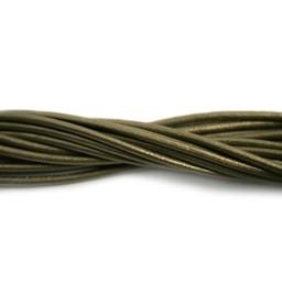 Cuenta DQ lederband  2mm old gold 2 meter