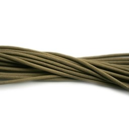 Cuenta DQ lederband  2mm zand 1 meter .