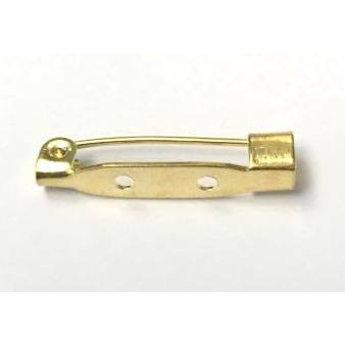 Cuenta DQ Broschennadeln 25mm Goldfarbe