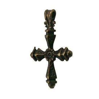 Cuenta DQ Greek cross charm 44x30mm antique gold