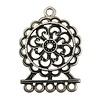 Cuenta DQ noveau silver jewelry pendant 36mmx50mm