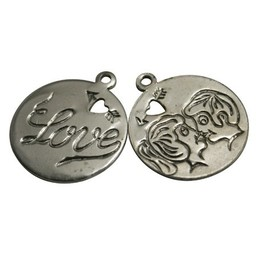 Cuenta DQ Anh?nger & Charms rond 'love'