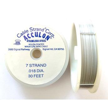 acculon white nylon coated miniature wire cable