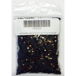 Niiniix ss10 hotfix rhinestones natural brown per 50 gram