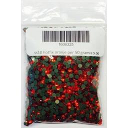 Niiniix ss10 hotfix steentjes oranje per 50 gram