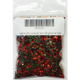 Niiniix ss6 hotfix steentjes oranje per 50 gram