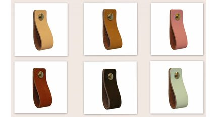 leather handles in