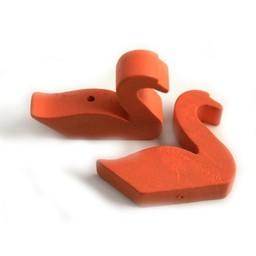 Cuenta DQ Hout figuur zwaan oranje