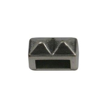 Cuenta DQ Metaal leerschuiver 6mm studs zilverkleur