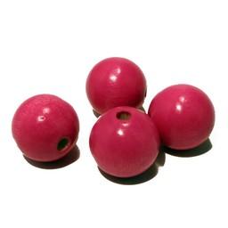 Cuenta DQ 20mm Holzperle pink rund
