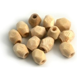 Cuenta DQ Wooden bead 6x5mm faceted clear