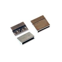 Cuenta DQ Magnetverschluss 20mm silber
