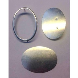 Cuenta DQ Seide Maler Brosche mit Grenze 53x48mm Silber
