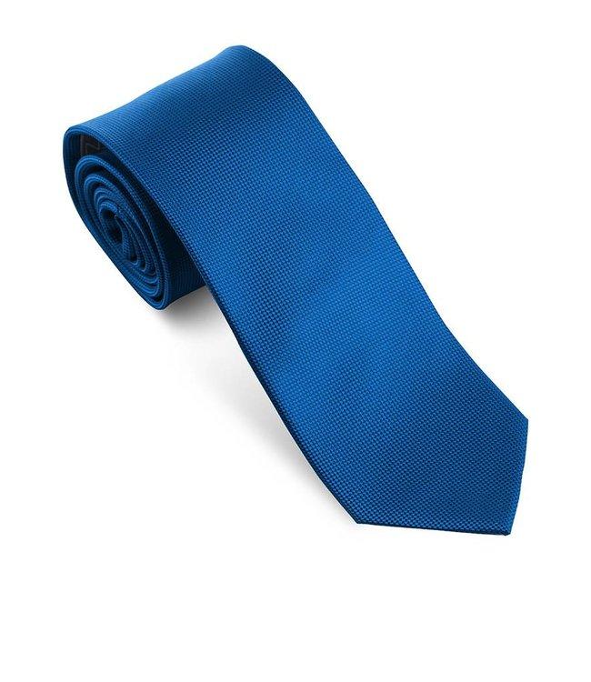 Effen koningsblauwe das